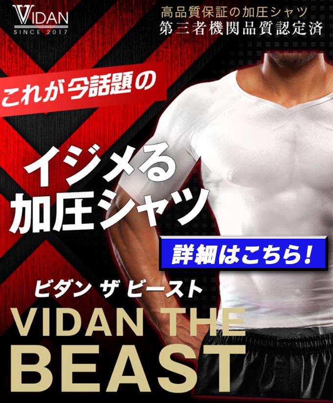加圧シャツ「VIDAN THE BEAST & BEAST-X」